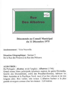 Rue des Albatros