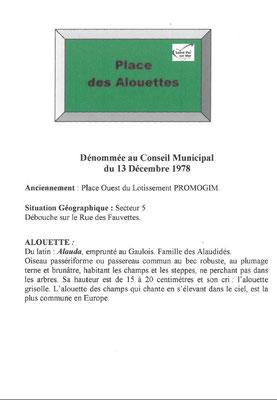 Place des Alouettes