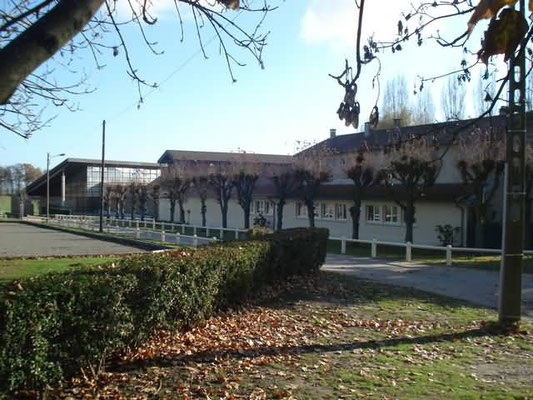 L'école Henri Boiscommun et la salle des fêtes