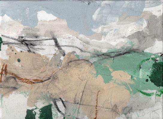 Erosion 6  |  2015  |  Acryl und Mischtechnik auf Leinwand  |  18 x 24 cm