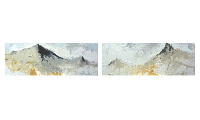 Dunenland 1 und 2  |  2012  |  Acryl auf Leinwand  |  je 30 x 90 cm