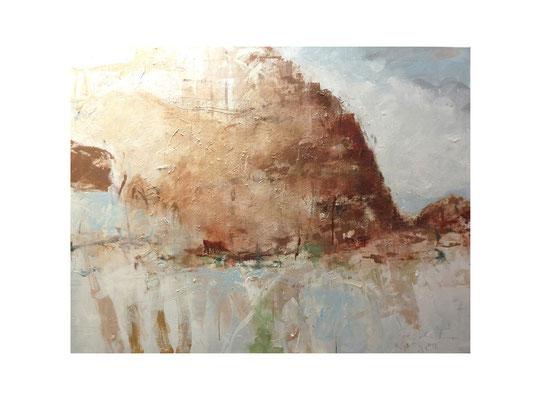 Kreide 1  |  2012  |  Acryl auf Leinwand | 100 x 130 cm