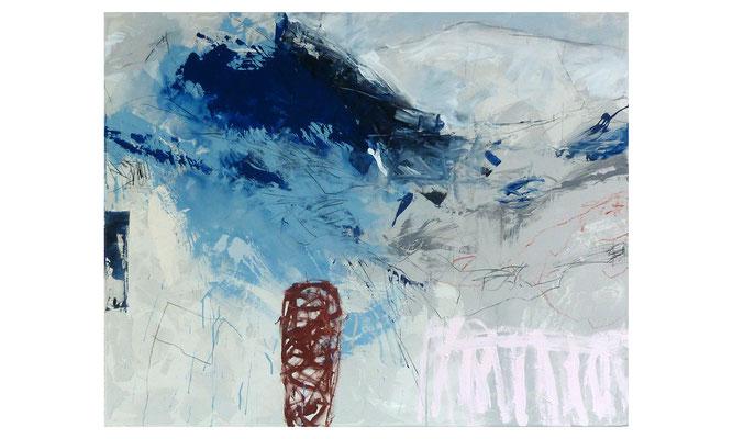 Blau-Stück 1  |  2015  |  Acryl auf Leinwand  |  120 x 150 cm