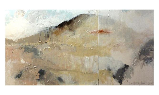 La 18.011 - Polenserie  |  2011  |  Acryl auf Leinwand  |  2-teilig, 80 x 160 cm