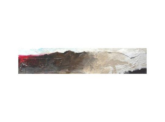 Horizont 1  |  2012  |  Acryl auf Leinwand | 20 x 100 cm