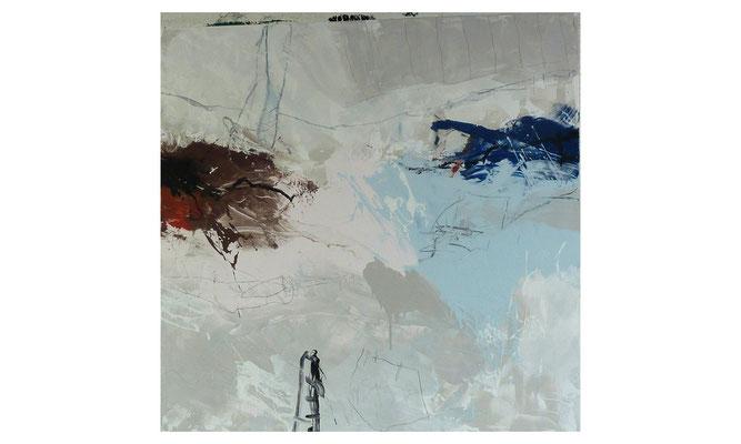 L-Fragmente 1  |  2015  |  Acryl auf Leinwand  |  120 x 120 cm
