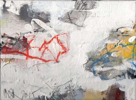 Erosion 3  |  2015  |  Acryl und Mischtechnik auf Leinwand  |  18 x 24 cm