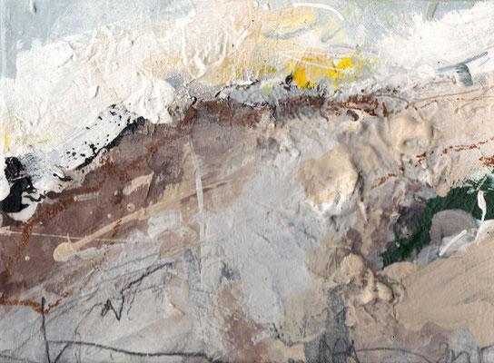 Erosion 9  |  2015  |  Acryl und Mischtechnik auf Leinwand  |  18 x 24 cm