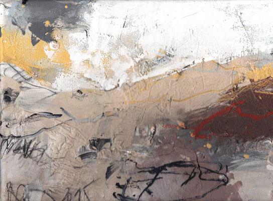 Erosion 7  |  2015  |  Acryl und Mischtechnik auf Leinwand  |  18 x 24 cm
