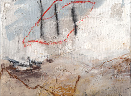 Erosion 8  |  2015  |  Acryl und Mischtechnik auf Leinwand  |  18 x 24 cm