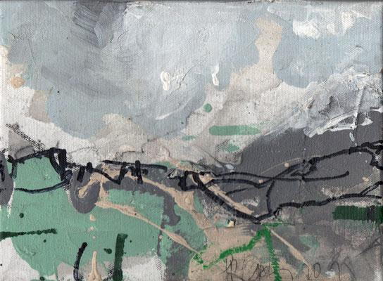 Erosion 5  |  2015  |  Acryl und Mischtechnik auf Leinwand  |  18 x 24 cm