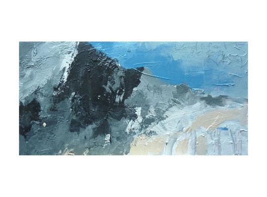 Alpenstuck 2  |  2012  |  Acryl auf Leinwand  |  30 x 60 cm