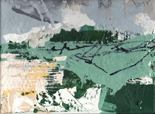 Erosion 4  |  2015  |  Acryl und Mischtechnik auf Leinwand  |  18 x 24 cm