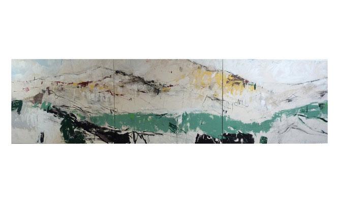 Norden | 2014 | Acryl auf Leinwand | 3-teilig, 90 x 360 cm