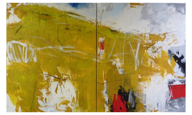 Sommerland 3 | 2014 | Acryl auf Leinwand | 120 x 200 cm