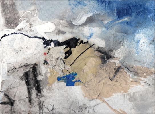 Erosion 1  |  2015  |  Acryl und Mischtechnik auf Leinwand  |  18 x 24 cm