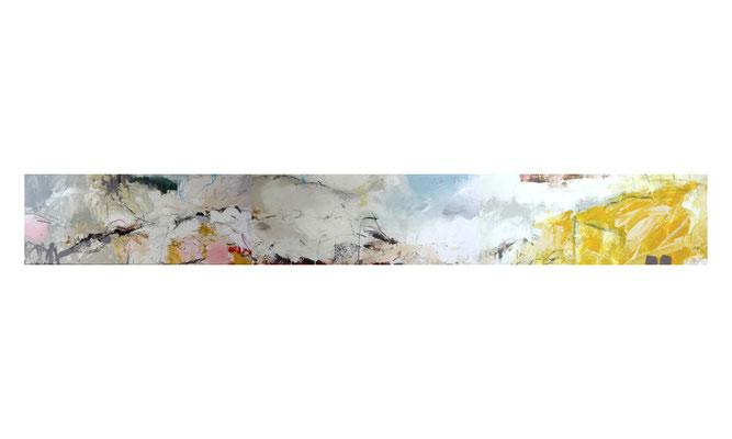 Dünen bei Rowy | 2014 | Acryl auf Leinwand | 3-teilig, 40 x 360 cm