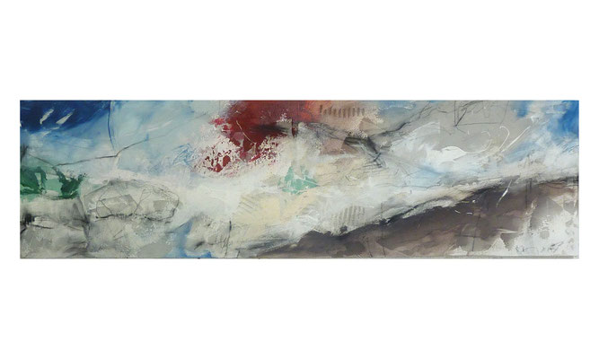 Horizont-Verschiebung  |  2015  |  Acryl auf Leinwand  |  50 x 180 cm