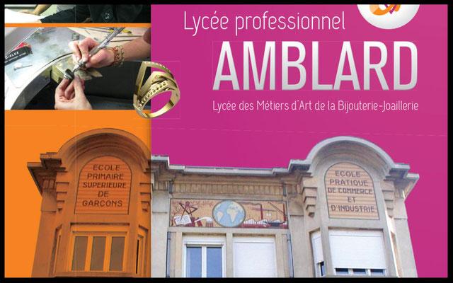 Logo Lycée Amblard, bijouterie et sertissage.