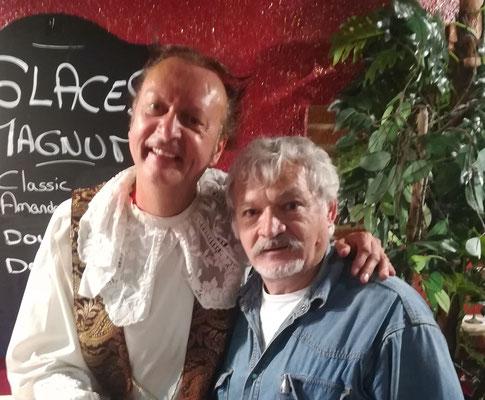 avec le comédien Merri  ( la grnand messe)