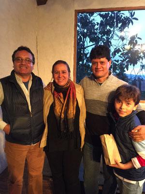 Luis Fernando Franco , Rita del Prado, Germán Ramírez y Tomás Ramírez
