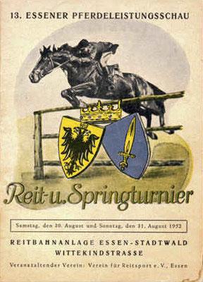 "Damals - 1952 - schon ""großer Sport"" am Stadtwaldplatz."