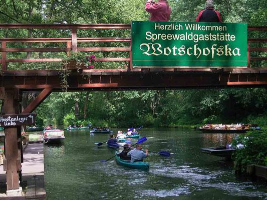 Kanu Tour zur Wotschofska von Burg/ Spreewald