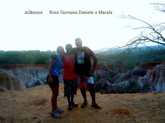 Rosa, io Giovanni e Daniele a Marafa marafa in2kenya