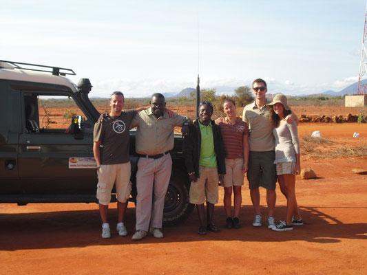 Michel e Giulia in safari  Tsavo est e Amboseli in2kenya safari watamu kenya