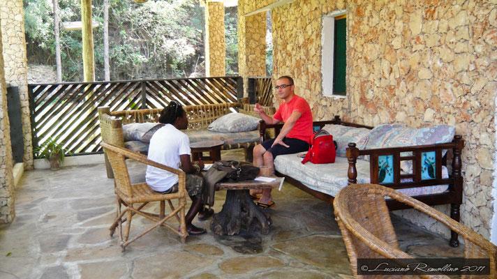 Watamu, Luciano e io Giovanni al resort in2kenya