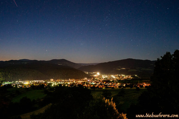 Weiterhin Richtung Schopfheim, langsam kommen die Sterne raus