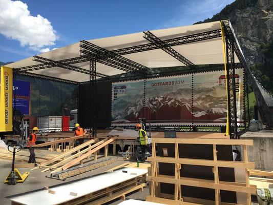Jodelerfest Event Grossanlass Schweizerische Post Aufbau Buehnenbild