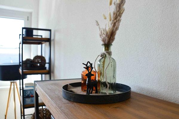 Tischdekoration Lounge Trockenblumen