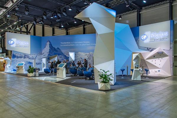 Rigips Messestand Live Kommunikation Event Grossanlass Veranstaltung Architektur Erlebnis