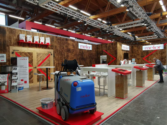 Melior Messestand Live Kommunikation Event Grossanlass Veranstaltung Architektur
