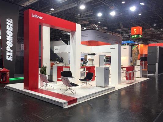 Messestand Euroshop Leitner Gestaltung Design Umsetzung
