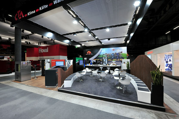 Messestand CTA Architektur Dekoration Design Grafik Live Kommunikation 3D Mietmöbel