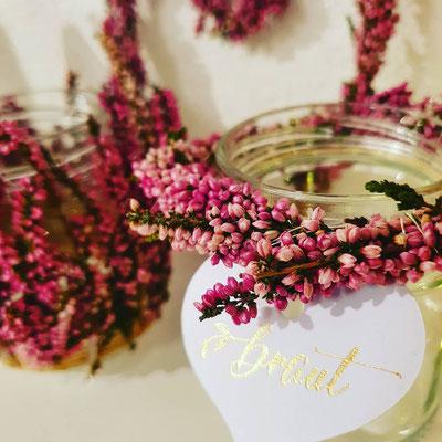 Vintage Weeding Hochzeit Blumendekoration Tischdeko Kerzen