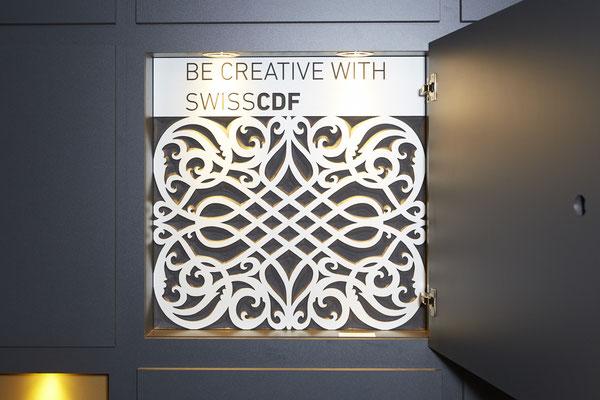 Umbau SwisKrono Design Architektur Einrichtung Grafik Ausstellungsraum