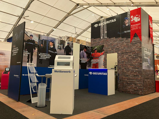 Securitas Messestand Live Kommunikation Event Grossanlass Veranstaltung Architektur