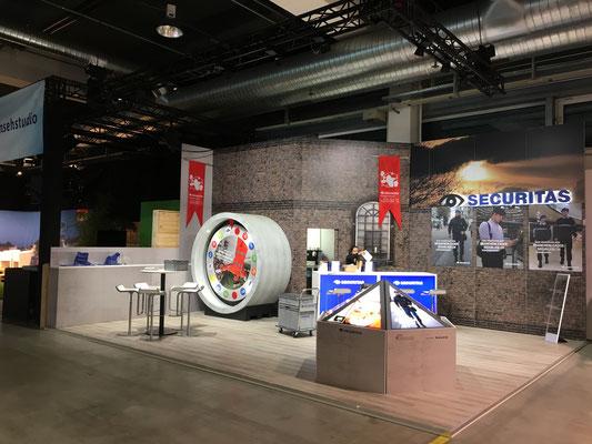 Securitas Messestand Live Kommunikation Event Grossanlass Veranstaltung Architektur