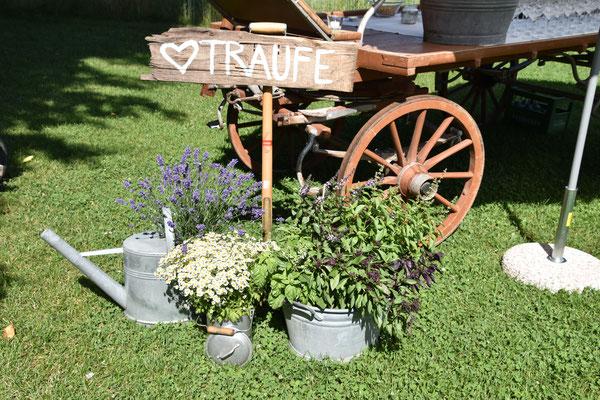 Vintage Weeding Hochzeit Blumendekoration