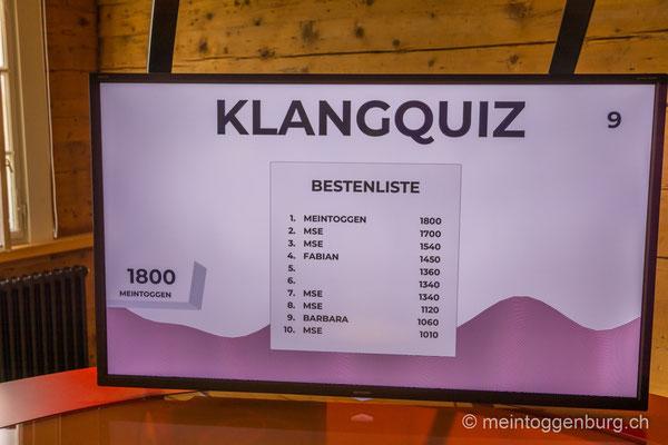 Erlebnisarchitektur Klangewelt Toggenburg Museum Umbau Quiz Monitor