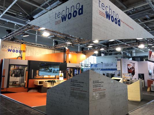 Messestand Techno Wood Live Kommunikation Design Architektur Holzbau Eycatcher