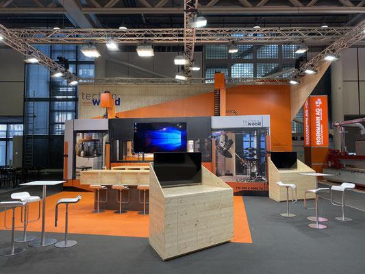 Messestand Techno Wood Live Kommunikation Design Architektur Holzbau