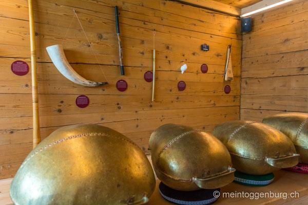 Erlebnisarchitektur Klangewelt Toggenburg Museum Umbau Wand Glocken