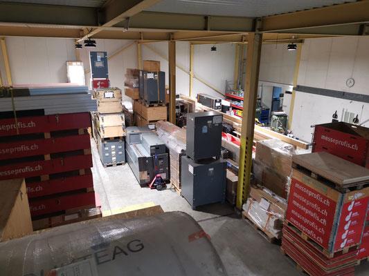 Lagerhalle Kundenmaterial Einlagerung Mietmöbel Vermietung