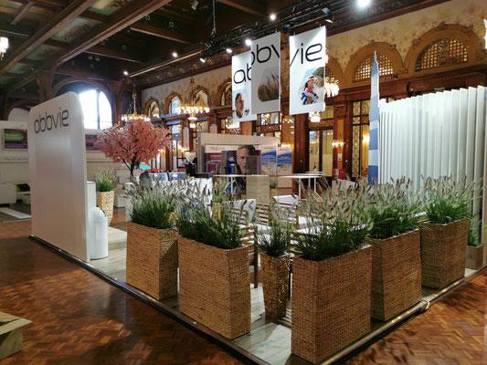 Messestand Abbvie Live Kommunikation Design Architektur Kongress Veranstaltung Dekoration