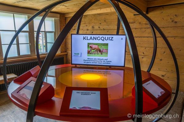 Erlebnisarchitektur Klangewelt Toggenburg Museum Umbau Quiz