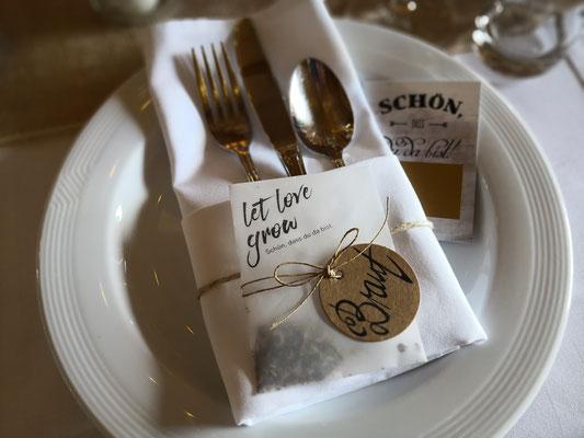Hochzeit Namensschilder Dekoration Event Planung